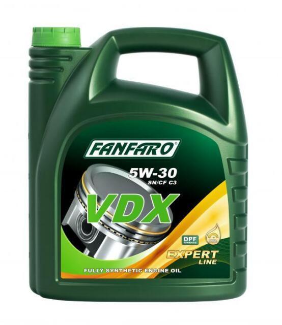 Aceite 5w30 DPF Lubricante de motor coches Sintético FANFARO Calidad Alemán 5L
