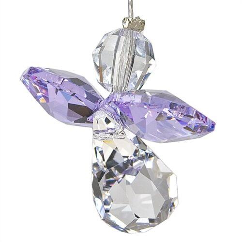 Austrian Crystal Guardian Angel Birthstone Suncather Light Amethyst JUNE CGLA