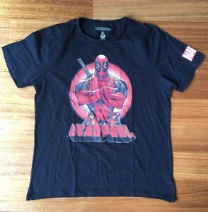 Deadpool-Men-s-Tshirt-Black-Size-XL-Marvel