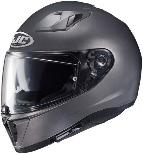 HJC I 70 Motorcycle Street Helmet Semi Flat Titanium Medium M 0875-0147-05