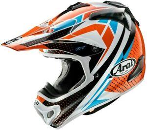 Arai MX-V Sprint MXV Motocross Enduro Offroad Race Helmet Orange Blue Adults