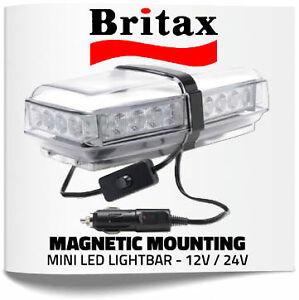 Britax led magnetic amber mini light bar 12v 24v a10000ldv ebay image is loading britax led magnetic amber mini light bar 12v aloadofball Images