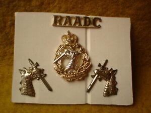 E-ROYAL-AUSTRALIAN-ARMY-4-METAL-BADGES-RAADC-DENTAL-CORE