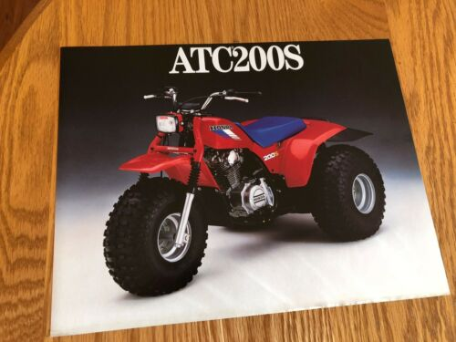1986 HONDA ATC200S DEALER SALES BROCHURE ORIGINAL ATC 200 S