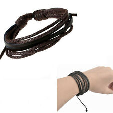 Fashion men womens Braided Bracelets Genuine Leather Bracelets Surfer