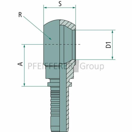 Pressnippel Ringanschluss spezial PN 06 RAM M10x1.5