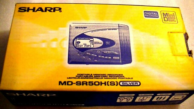 VINTAGE SHARP MD MINIDISC WALKMAN RECORDER model MD-SR50H