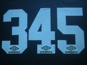 NUMERI UFFICIALI UMBRO 1995-1996 OFFICIAL NUMBERS by ISS