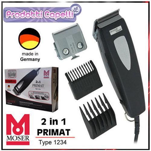 MOSER PRIMAT 1234 2 IN 1 HAARSCHNEIDER PROFESSIONAL HAAR-CLIPPERS-RASIERER 2