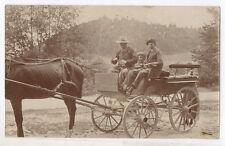 PHOTO ANCIENNE Voiture à cheval Attelage Famille Transport Vers 1900 Enfant