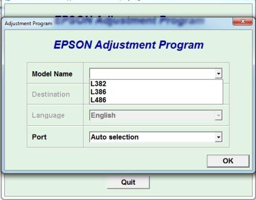 Reset Epson L382 L486 version ECC with Serial Generatorersion L386