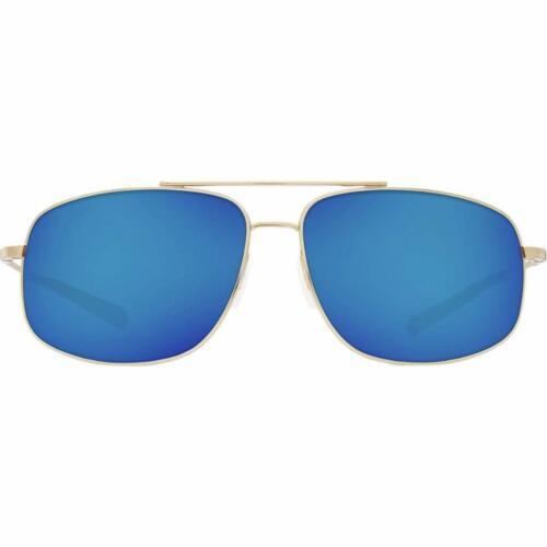 Costa Del Mar Shipmaster Polarized Sunglasses 580P Shiny Gold//Blue Mirror
