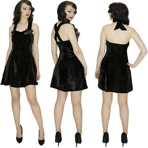 BLACK VELVET DESIGNER MINI DRESS by Dr FAUST PARTY COCKTAIL VINTAGE ALTERNATIVE