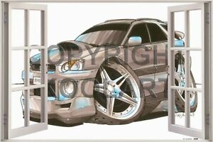 Huge-3D-Koolart-Window-view-Subaru-Impreza-Estate-Wagon-Wall-Sticker-Poster-1626