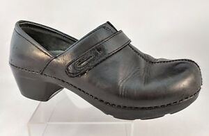 Dansko-Professional-Nursing-Comfort-Leather-Slip-On-Clogs-Black-Us-Size-7-EU-37
