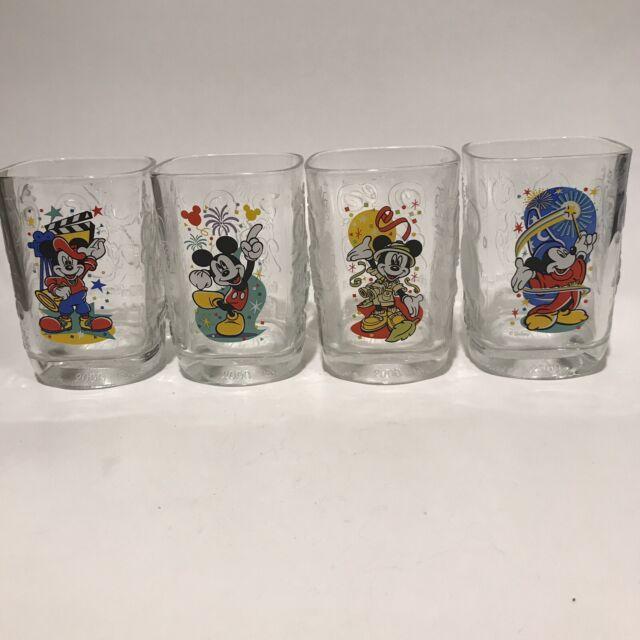 Walt Disney World McDonalds Mickey Mouse Year 2000 Celebration Glasses Set of 4