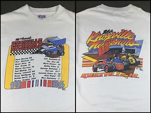 True Vintage 1986 Sprint Car Racing Knoxville Nationals Graphic T-Shirt L