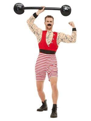 Adulti Da Uomo Il Più Grande Showman Strongman Costume Circo Costume Vestito Med-mostra Il Titolo Originale Fabbricazione Abile