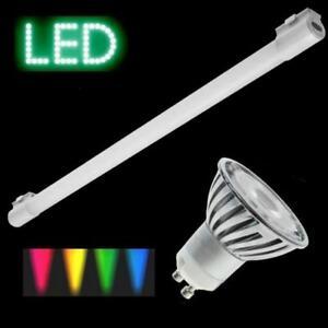 LED-farbig-GU10-3W-6W-rot-blau-gruen-gelb-Power-LED-kein-Farbwechsel-Lampe