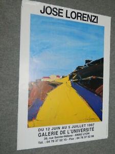 José LORENZI  1997  Exposition Galerie de l'Université LYON