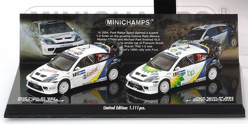 Ford Focus Rs Wrc Double Rally Mexico 2004 Maertin Park Duval Set 1:43
