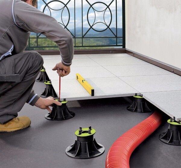 Stelzlager höhenverstellbar 25-40mm, 40-70mm für Terrassenplatten Feinsteinzeug | Authentische Garantie  | Online Outlet Store  | Sofortige Lieferung