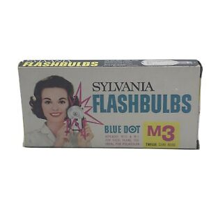Vintage Sylvania M3B Blue Dot Flashbulbs 12 Bulbs New