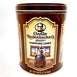 Vintage Orville Redenbacher's Popping Corn Popcorn Tin Storage Container