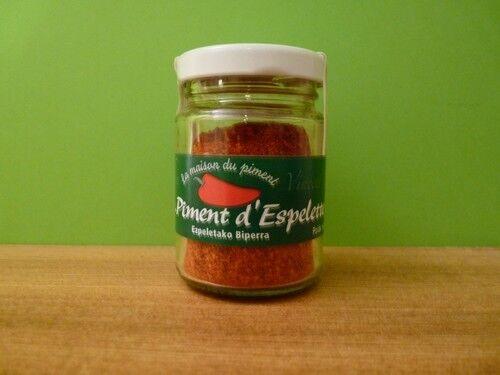 ÉPICE  PIMENT D'ESPELETTE AOC 15 g  ( 1 jars of ground AOC Espelette pepper