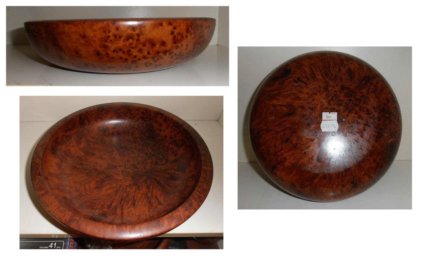 Ciotola cm 26 radica, legno radice tuya tuja tuia, artigianato africano, C26-14