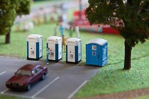 Amical Faller 180543 H0 Mobile Toilettes Cabines Touche Du Bois-en Toi Toi Fr-fr Afficher Le Titre D'origine