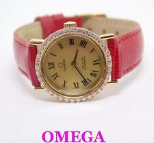 18k OMEGA De VILLE Automatic Ladies Watch w/Diamonds CAl 663* EXLNT* SERVICED