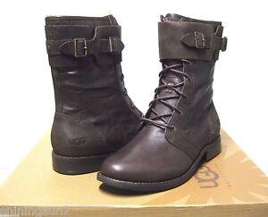 Image is loading Ugg-Maaverik-Lodge-Leather-Women-Boots-US9-UK7-