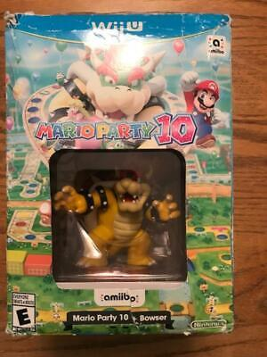 Nintendo Wii U Mario Party 10 Amiibo Bowser Bundle 1 Ammibo Figure Brand New 45496904364 Ebay