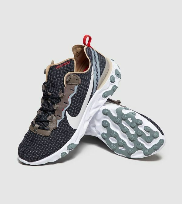 NIKE REACT ELEMENT 55 BLACK   LIGHT BONE BV0323-001 BRAND NEW UK SIZES 9 & 12
