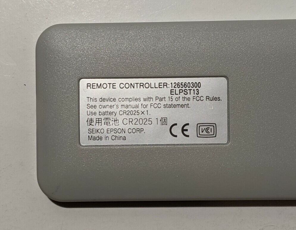 Replacement Remote Control for epson ELPST11