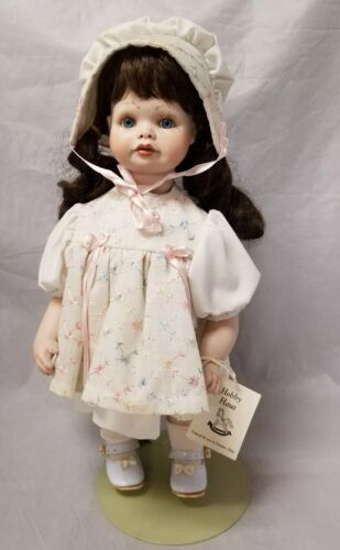 "Shirley Butter Cailyn Ceramic Doll Porcelain Face, Arms Legs, 16"" Tall w Stand"