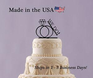 Wedding Cake Topper, Engagement Party, Wedding Rings, We Do, I do - LT1084