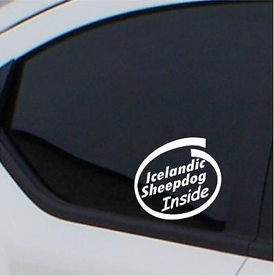 2x Icelandic Sheepdog  Inside stickers car decal