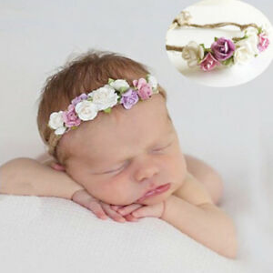 Toddler-baby-girls-kids-flower-party-headband-hair-band-photo-prop-lovely-OJ