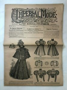 1896 Imperial Mode FASHION CLOTHING PATTERN Antique Advertising Catalog