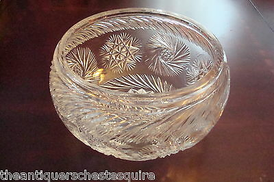 *glass14 Collectibles Vintage Cut Crystal Brilliant Period Pattern Glass Bowl Centerpiece