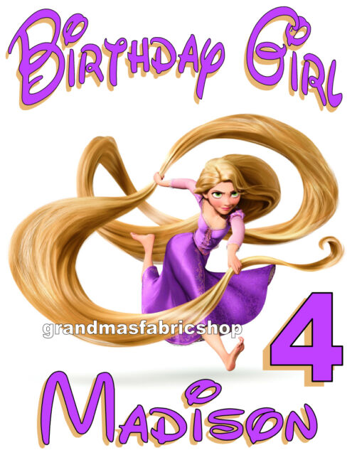 New Tangled Rapunzel Personalized Birthday T Shirt Party Favor Gift