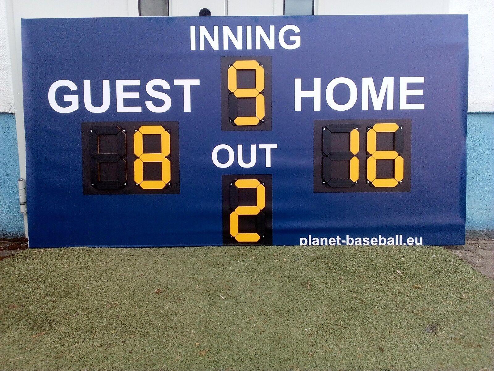 Béisbol tablero tablero tablero kit béisbol scoreboard Kit 8f1018