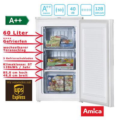 Gefrierschrank Tiefkühlschrank 60l A++ 85er Nische Weiß Amica GS 15496