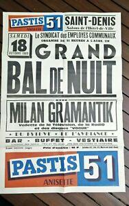 Poster-Antique-Pastis-51-Milan-Gramantik-Imp-Gaillard-October-1969