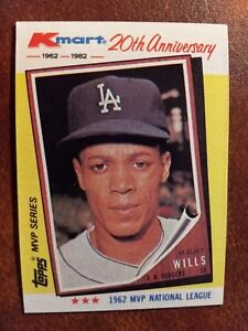 Details About 1982 Topps Kmart 20th Anniversary Baseball Card 2 Maury Wills