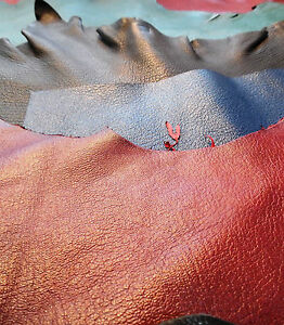 10-Goatskin-Leather-Offcuts-Assorted-colours-and-sizes-Bookbinding-Crafts