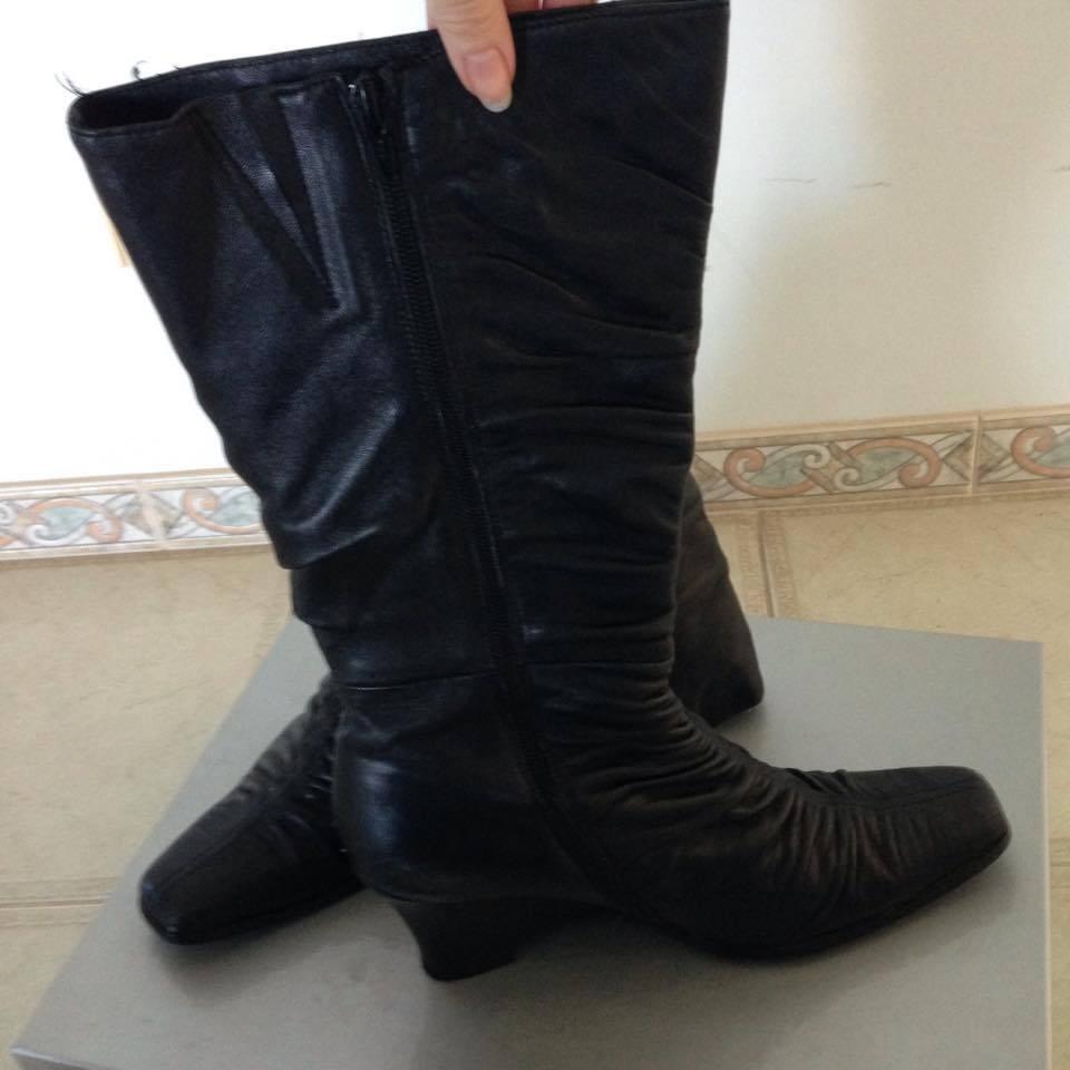 Venta Sara Cole Cole Cole Diseño 'Ellen' cuña de cuero negro de mujer la rodilla botas altas 40 4ab7ec