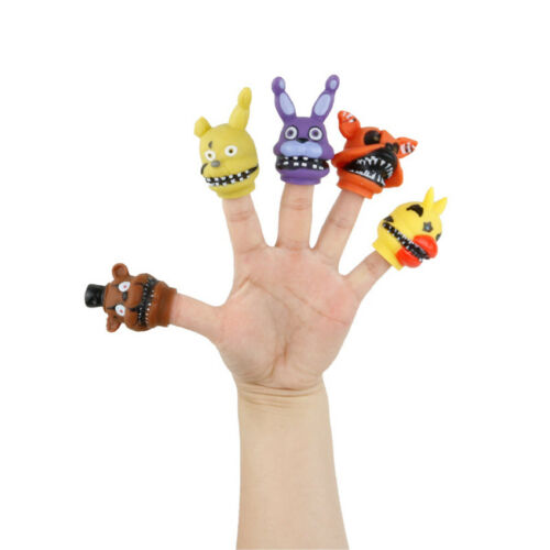 5Pcs Finger Doll Baby Educational Hand Cartoon Five Nights At Freddy/'s Puppets